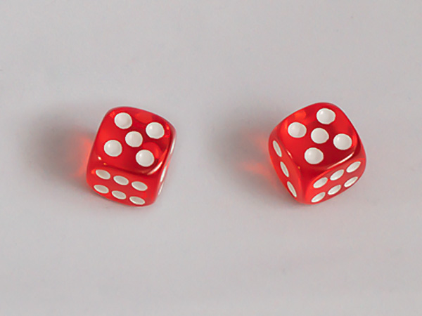 two gaming dice