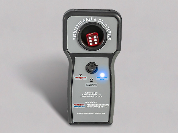 Ball & Dice tester detecting non-ferrous metal